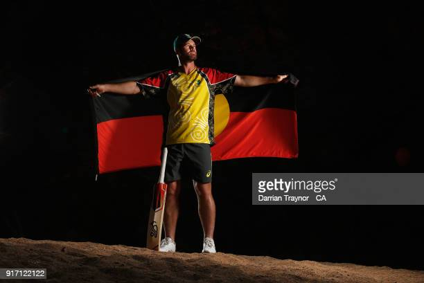 Dan Christian poses for a photo during the 2018 Cricket Australia Indigenous Championships on February 8 2018 in Alice Springs Australia