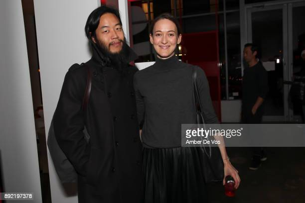 Dan Chung and Corinna Barsan attend Niki Shaokao Cheng's Annual Holiday Party at Calligaris SoHo on December 13 2017 in New York City