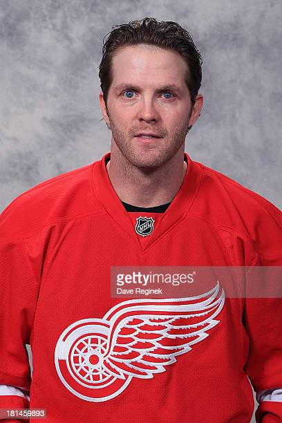 Dan Cleary of the Detroit Red Wings poses for his official headshot for the 2012-2013 season at Compuware Ice Arena on January 13, 2013 in Plymouth,...
