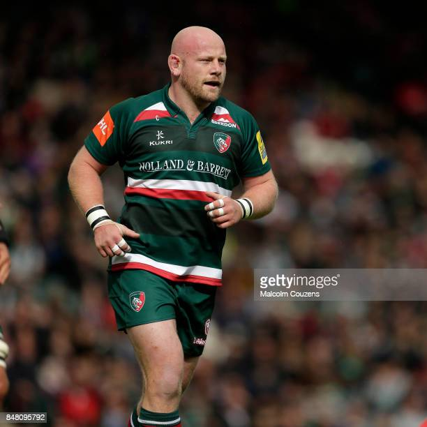 Dan Cole of Leicester Tigers during the Aviva Premiership match between Leicester Tigers and Gloucester Rugby at Welford Road on September 16 2017 in...