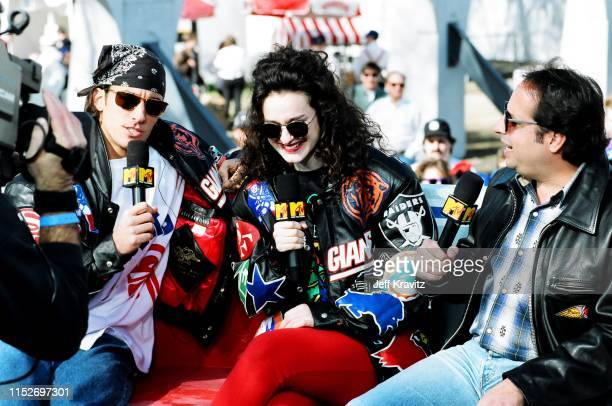 Dan Cortese Lisa Kennedy Montgomery at The 1993 MTV Super Bowl Show at The Rose Bowl on January 31st 1993 in Anaheim CA