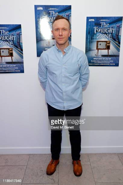 Dan Crossley attends the press night after party for The Twilight Zone at The h Club on March 12 2019 in London England