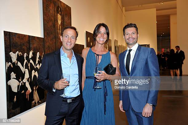 Dan Dees Daun Dees and LACMA Trustee Ryan Seacrest attend the LACMA 2016 Collectors Committee Gala on April 16 2016 in Los Angeles California