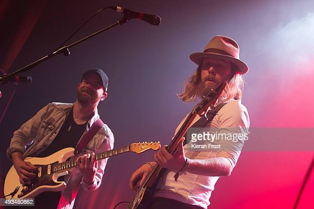 Dan Devane and Paul Flannery of Walking on Cars performs at The Olympia Theatre on October 20, 2015 in Dublin, Ireland.