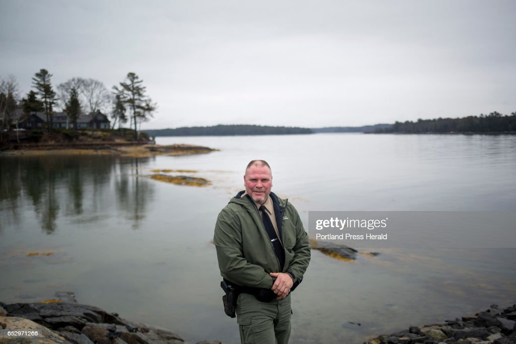 Dan Devereaux poses for a portrait at Mere Point Boat Launch. Devereaux is the Marine Resource Officer and Harbor Master for the town of Brunswick.