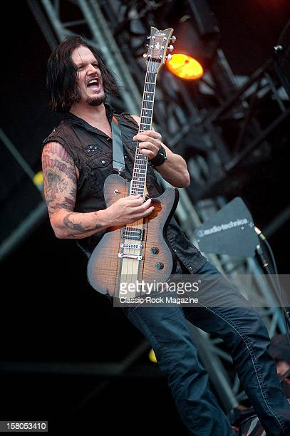 Dan Donegan from Disturbed live onstage at Download Festival 2011 Donington Park Leicester June 12 2011