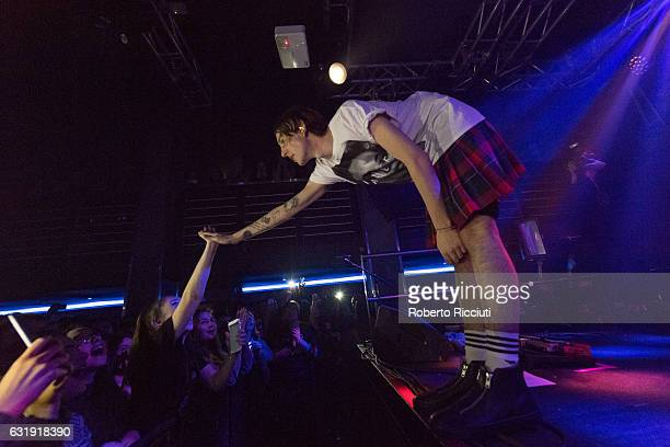 Dan Dorney of The Hunna performs on stage at The Liquid Room on January 17, 2017 in Edinburgh, Scotland.