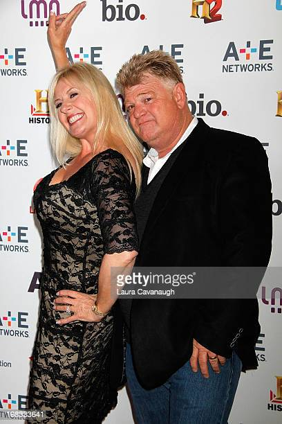 Dan Dotson and Laura Dotson attend AE Networks 2013 Upfront at Lincoln Center on May 8 2013 in New York City