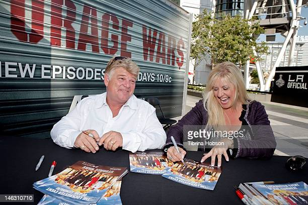Dan Dotson and Laura Dotson attend AE's 'Storage Wars' Lockbuster Tour at Nokia Plaza LA LIVE on June 13 2012 in Los Angeles California