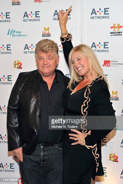 Dan Dotson and Laura Dotson attend the AE Networks 2012 Upfront at Lincoln Center on May 9 2012 in New York City