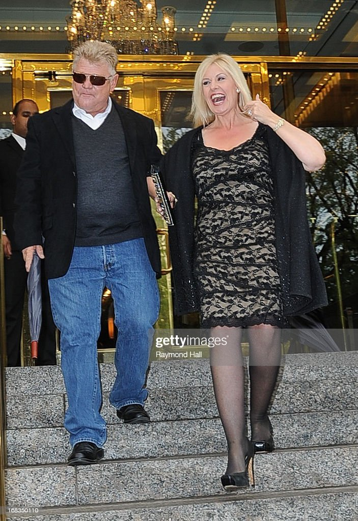 Dan Dotson and Laura Dotson is seen outside the Trump Hotel on May 8, 2013 in New York City.