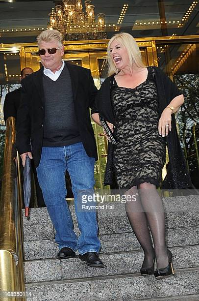 Dan Dotson and Laura Dotson is seen outside the Trump Hotel on May 8 2013 in New York City