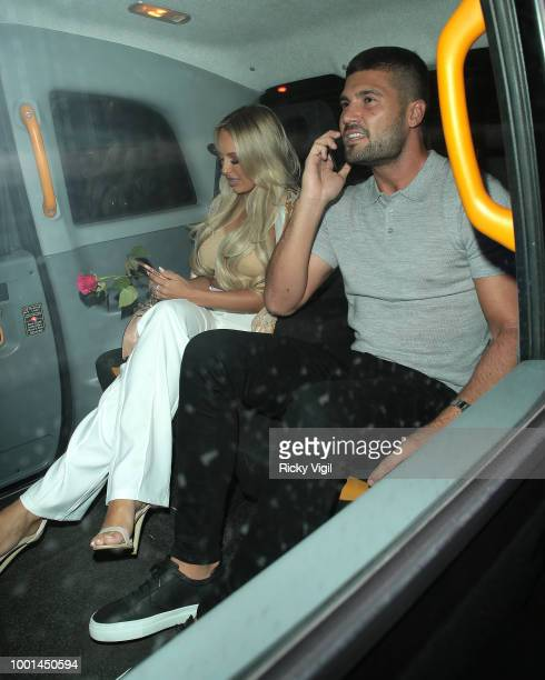 Dan Edgar and Amber Turner seen on a night out at MNKY HSE in Mayfair on July 18 2018 in London England