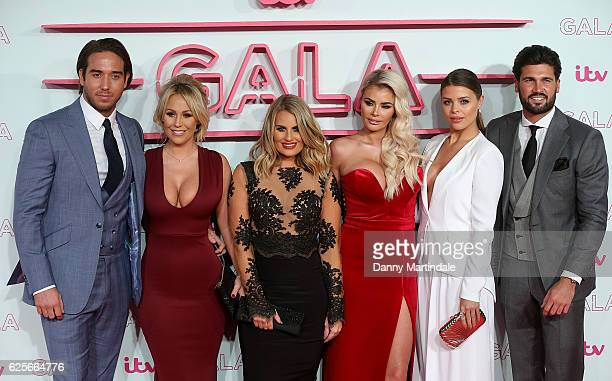 Dan Edgar Kate Wright Danielle Armstrong Chloe Sims Chloe Lewis and James Lock attends the ITV Gala at London Palladium on November 24 2016 in London...