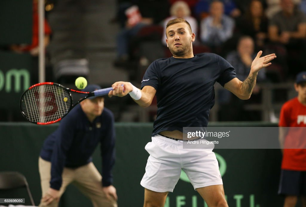 Canada v GB: Davis Cup by BNP Paribas World Group First Round - Day 3 : News Photo