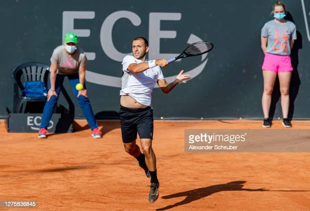 Dan Evans of Great Britain in action during Round One of the Hamburg European Open 2020 at Rothenbaum on September 23 2020 in Hamburg Germany