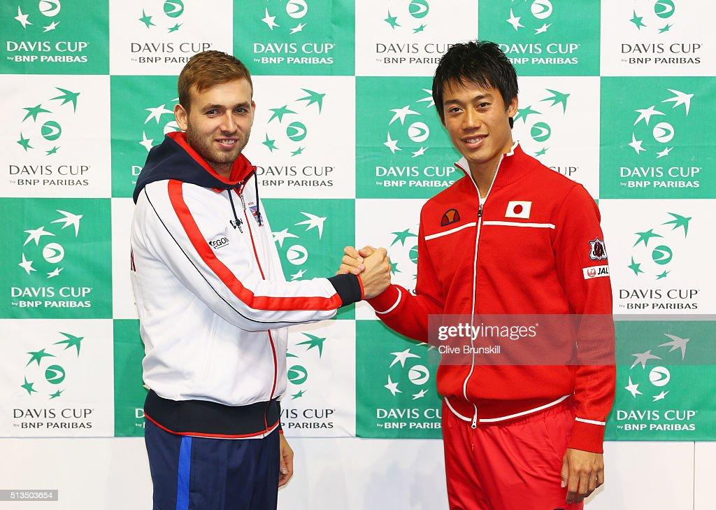 Great Britain v Japan - Davis Cup: Previews : News Photo