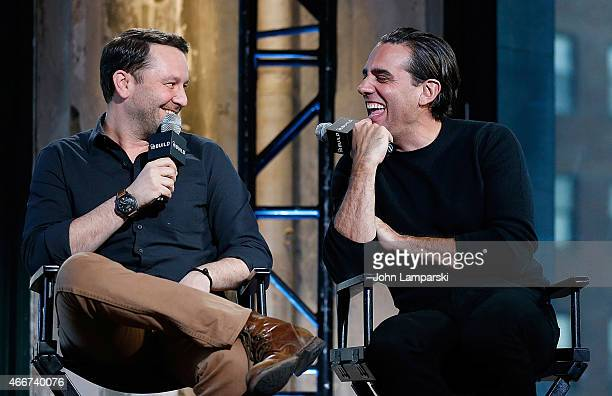 Dan Fogelman and Bobby Cannavale discuss Danny Collins during AOL Build Speaker Series at AOL Studios In New York on March 18 2015 in New York City