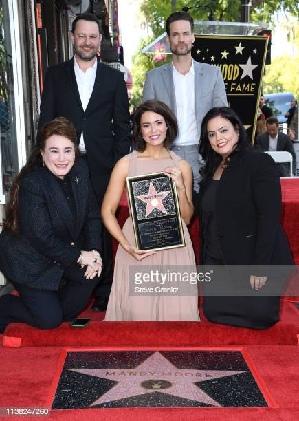 Dan Fogelman Mandy Moore and Shane West a ceremony honoring Mandy Moore with a star on the Hollywood Walk Of Fame on March 25 2019 in Hollywood...