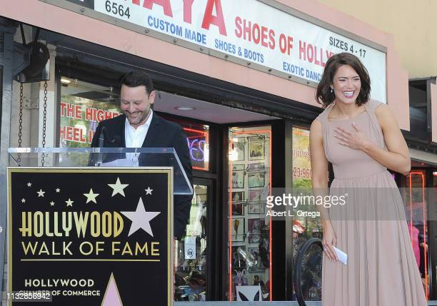 Dan Fogelman speaks at Mandy Moore's star ceremony on The Hollywood Walk of Fame on March 25 2019 in Hollywood California