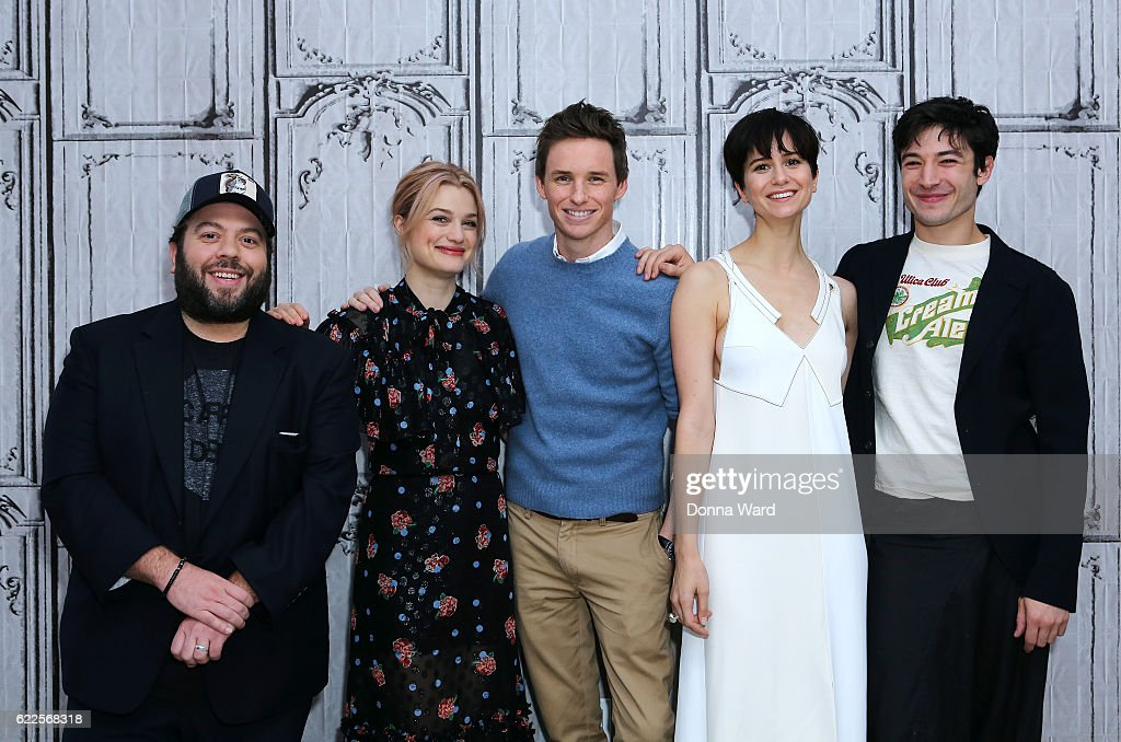 """The Build Series Presents Eddie Redmayne, Katherine Waterson, Dan Fogler and Alison Sudol, """"Fantastic Beasts And Where to Find Them"""" : News Photo"""