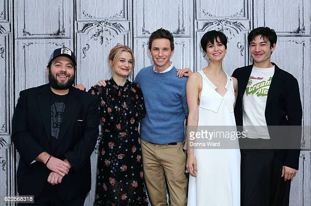 Dan Fogler Alison Sudol Eddie Redmayne Katherine Waterston and Ezra Miller appear to promote Fantastic Beasts And Where To Find Them during the Build...