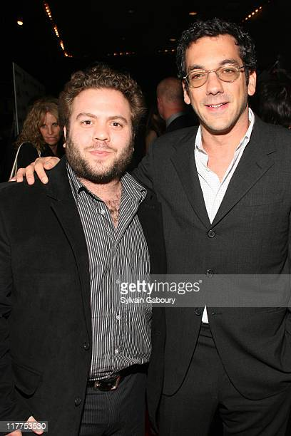 """Dan Folger and Todd Phillips during """"School For Scoundrels"""" New York Premiere at AMC Loews Lincoln Square in New York City, New York, United States."""