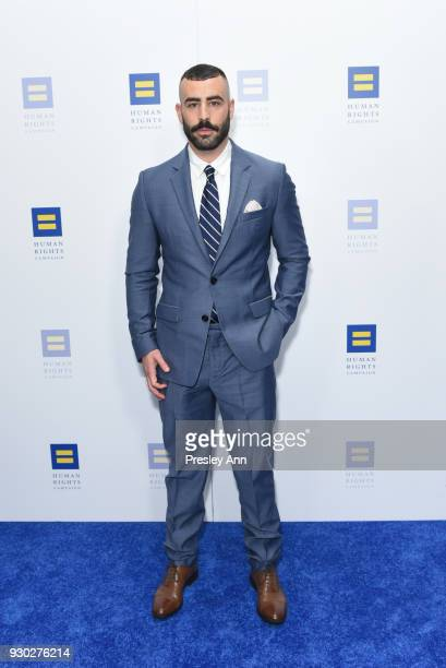 Dan Fox attends Human Rights Campaign's 2018 Los Angeles Gala Dinner Arrivals at JW Marriott Los Angeles at LA LIVE on March 10 2018 in Los Angeles...