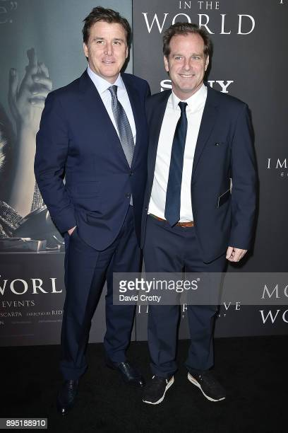 Dan Friedkin and Bradley Thomas attend the Premiere Of Sony Pictures Entertainment's All The Money In The World Arrivals at Samuel Goldwyn Theater on...