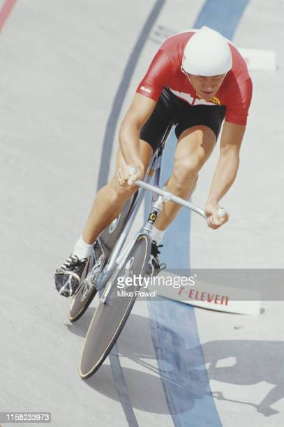 Dan Frost of Denmark during the Men's Individual Pursuit race during the World Cycling Championship on 5th September 1986 at the 7Eleven USOTC...