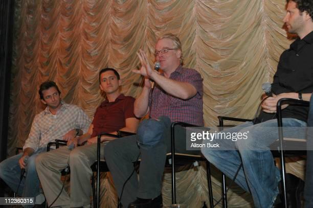Dan Futterman writer Clifton Collins Jr Philip Seymour Hoffman and Bennett Miller director