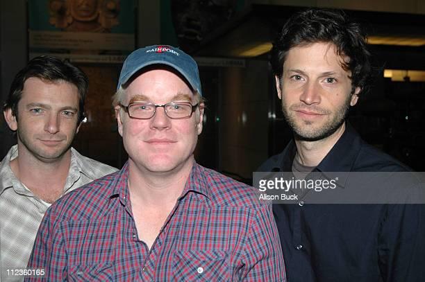 Dan Futterman writer Philip Seymour Hoffman and Bennett Miller director