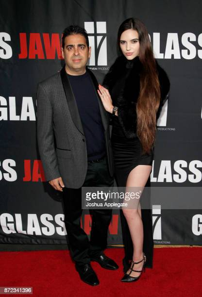 Dan Gatsby and Kayla Gatsby at the premiere of 'Glass Jaw' at Universal Studios Hollywood on November 9 2017 in Universal City California