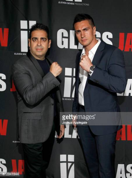 Dan Gatsby and Lee Kholafai at the premiere of 'Glass Jaw' at Universal Studios Hollywood on November 9 2017 in Universal City California