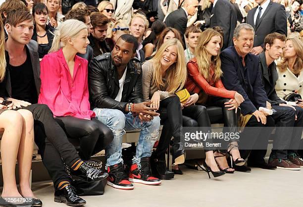 Dan Gillespie Ellie Goulding Kanye West Sienna Miller Gemma Arterton Rosie HuntingtonWhiteley Mario Testino Andy Murray and Kim Sears attends at the...
