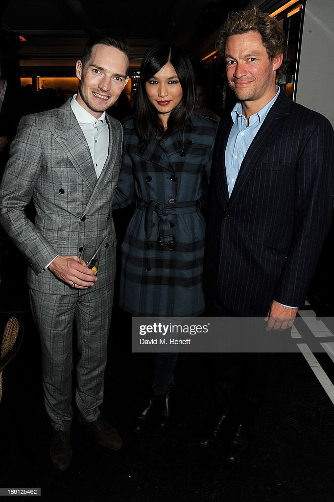 Dan Gillespie Sells, Gemma Chan and Dominic West attend a party hosted by Katherine Jenkins and Raymond Blanc to celebrate the launch of Martell Very Special Nights, a series of very special events bringing you food by culinary visionary Raymond Blanc, music by award-winning mezzo soprano Katherine Jenkins and the ultimate Cognac, Martell, at Le Caprice on October 28, 2013 in London, England.