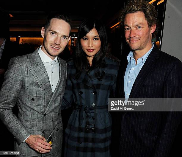 Dan Gillespie Sells Gemma Chan and Dominic West attend a party hosted by Katherine Jenkins and Raymond Blanc to celebrate the launch of Martell Very...