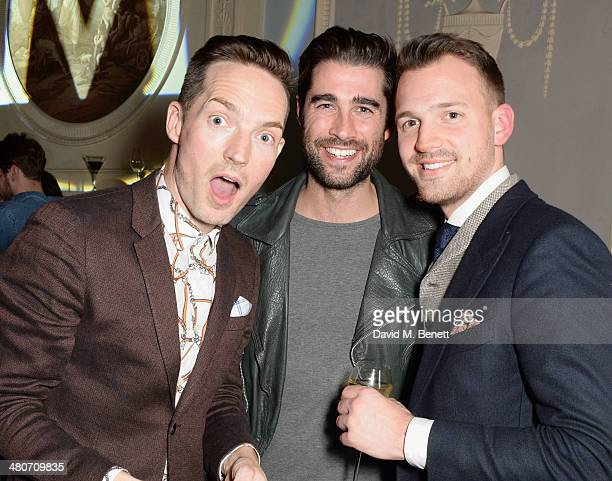 Dan Gillespie Sells Matt Johnson and guest attend a party to celebrate 25 years of Magnum at Home House on March 26 2014 in London England