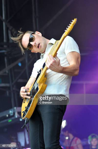 Dan Gillespie Sells of The Feeling performs on stage at the Cornbury Music Festival at Great Tew Estate on July 4 2014 in Oxford United Kingdom