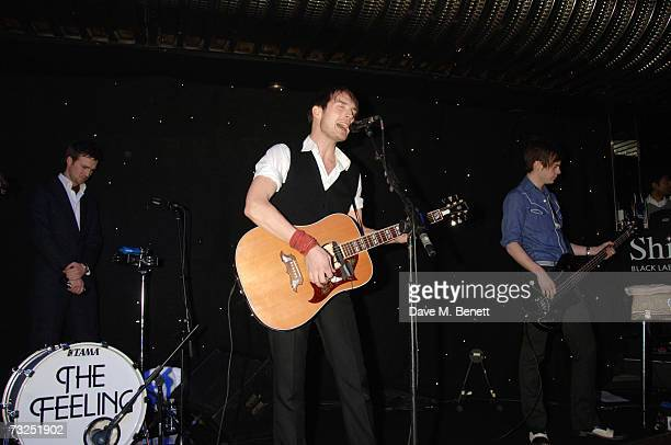 Dan Gillespie Sells of The Feeling performs on stage at the launch party of the new LG Shine mobile phone, at Club Cirque on February 7, 2007 in...