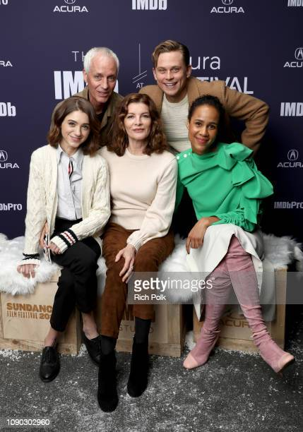 Dan Gilroy Billy Magnussen Natalia Dyer Rene Russo and Zawe Ashton of 'Velvet Buzzsaw' attend The IMDb Studio at Acura Festival Village on location...