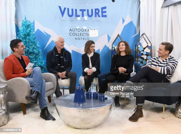 Dan Gilroy Natalia Dyer Rene Russo and Billy Magnussen attend the Vulture Spot during Sundance Film Festival on January 26 2019 in Park City Utah
