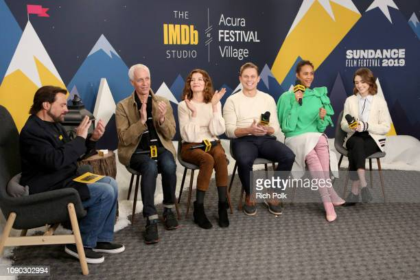 Dan Gilroy Rene Russo Billy Magnussen Zawe Ashton and Natalia Dyer of 'Velvet Buzzsaw' and Kevin Smith attend The IMDb Studio at Acura Festival...