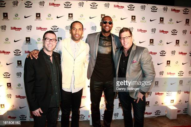 Dan Goodman Maverick Carter Lebron James and Bill Masterson attend LeBron James Believe Entertainment Group And Spring Hill Prods AllStar Celebration...