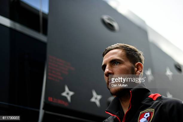 Dan Gosling of AFC Bournemouth arrives at the stadiun prior to kick off during the Premier League match between Watford and AFC Bournemouth at...