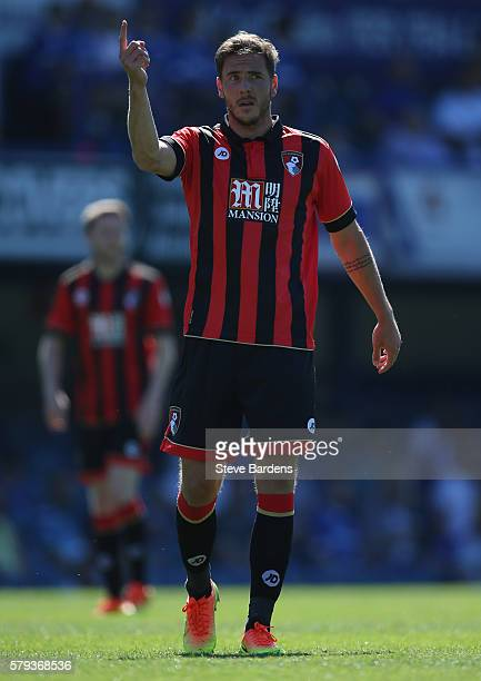 Dan Gosling of AFC Bournemouth during a PreSeason Friendly match between Portsmouth FC and AFC Bournemouth at Fratton Park on July 23 2016 in...