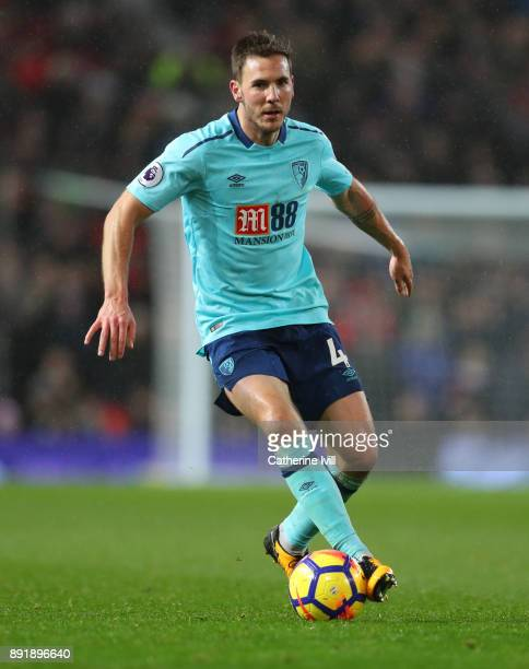 Dan Gosling of AFC Bournemouth during the Premier League match between Manchester United and AFC Bournemouth at Old Trafford on December 13 2017 in...