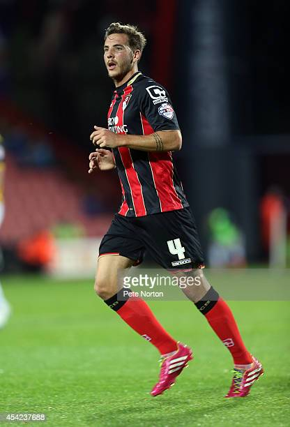 Dan Gosling of AFC Bournemouth in action during the Capital One Cup Second Round match between AFC Bournemouth and Northampton Town at Goldsands...
