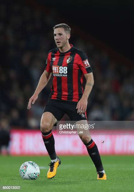Dan Gosling of AFC Bournemouth in action during the Carabao Cup Third Round match between Bournemouth and Brighton and Hove Albion at Vitality...