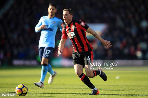 Dan Gosling of AFC Bournemouth in action with Ayoze Perez of Newcastle United during the Premier League match between AFC Bournemouth and Newcastle...